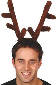 with Headband Smiffys Stag Night Horns Male Brown