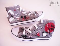 Studio Ghibli hand painted shoes series / Miyazaki shoes / Totoro shoes / Japanese shoes