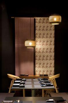Lamps. taberna japonesa valladolid tarruella interioristas wabi-sabi comedor