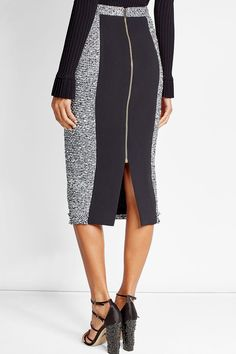 Pencil Skirt with Cotton and Wool - Roland Mouret | WOMEN | US STYLEBOP.com