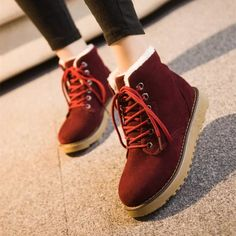 Womens Classic Stylish Cotton Fur Winter Boots