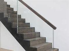 Afbeeldingsresultaten voor trap staal hout glas