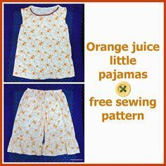 CUTE free pajama pattern. How to draft from measurements.