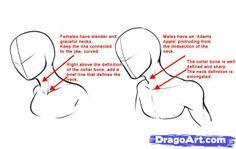 How to draw anime necks