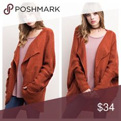 Rust Sweater Cardigan Gorgeous rust colored cardi with pockets Sweaters Cardigans