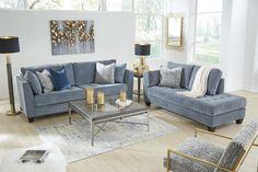 Sciolo Sofa, Cobalt - New Ideas Living Room Grey, Living Room Sets, Interior Design Living Room, Living Room Furniture, Living Room Designs, Bedroom Decor, Home Decor, Toss Pillows, Decor Ideas