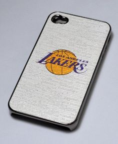 Basketball Hard Case for Apple iPhone 4 4G - NBA LA Lakers (Glinting Surface) White color Lakers Iphone 4 or 4s protective case