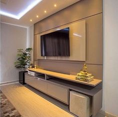 Home theaters minimalista curt - hometheaters Living Room Tv Unit Designs, Ceiling Design Living Room, Tv Wall Design, House Design, Bedroom Tv Wall, Bedroom Decor, Home Living Room, Living Room Decor, Tv Unit Furniture