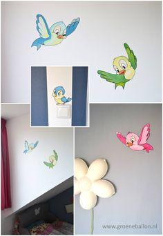 vogeltjes | Disney | muurschildering | kinderkamer | babykamer | www.groeneballon.nl | Den Haag