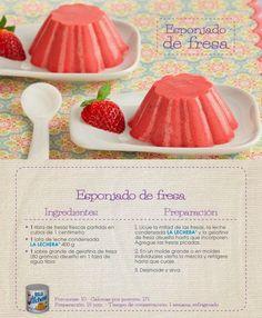 esponjado de fresa