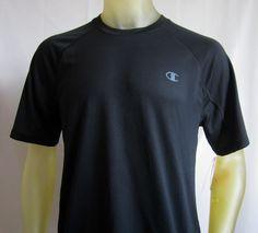 Champion Mens Vapor PowerTrain Short Sleeve T Shirt Black Large  #Champion #BasicTee