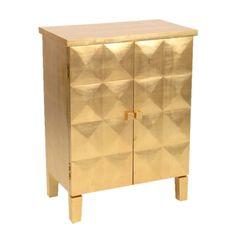 Cabinet in gold leaf