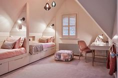 Design Organize/turn Attic Bedroom >> Cost To Finish Attic Converting Attic To Living Space Finished Attic, House Design, Room Decor, Attic Bedroom Designs, New Home Designs, Home, Bedroom Design, Small Bedroom, Room