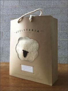 Shopping bag pour une marque de laine by Sarah Fløe Stenberg Rodet, via Behance Clever Packaging, Bag Packaging, Print Packaging, Packaging Ideas, Sacs Design, Web Design, Creative Design, Shopping Bag Design, Shopping Bags