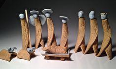 Set Presepe ceramica Creche Manger scena Natale artigianali