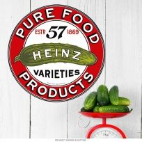 Heinz Pure Food Products Logo Metal Sign