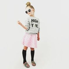 Off to the @scandiminis press event today to celebrate their 5th birthday. Woohoo. We are in love with this super cool High Five exclusive sweatshirt in collaboration with @gardnerandthegang. Online now and in mama size too. WANT!!!!  #scandikids #littlefl