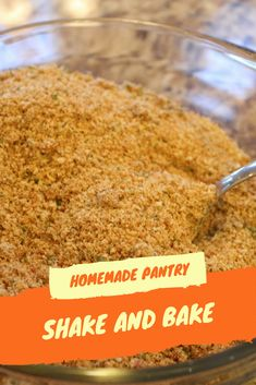 To coat the air baked pork chops. Homemade Shake and Bake Shake And Bake Pork Chop Recipe, Chicken Shake And Bake, Homemade Shake And Bake, Homemade Dry Mixes, Homemade Spices, Homemade Seasonings, Air Fryer Pork Chops, Baked Pork Chops, Baked Chicken Recipes