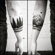 mountain armband tattoo - Google Search