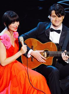 Karen O & Ezra Koenig perform 'The Moon Song' onstage during the Oscars at the Dolby Theatre - March 2, 2014