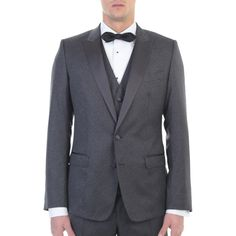 Dolce&Gabbana. Wool and silk jacquard three pieces suit. Made In Italy.