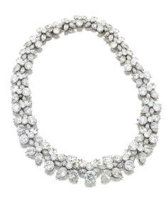 Diamond 'Holly Wreath' necklace, by Harry Winston