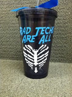 Rad tech black tumbler by iSAAWit on Etsy