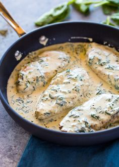Creamy Parmesan Garlic Chicken Could large dice chicken into pieces and pour over pasta. Creamy Parmesan Garlic Chicken Could large dice chicken into pieces and pour over pasta. Creamy Garlic Chicken, Chicken Parmesan Recipes, Easy Chicken Recipes, Creamy Garlic Parmesan Sauce, Cheesy Chicken, Chicken Garlic Sauce, Creamy Chicken Breast Recipes, Chicken Fillet Recipes, Chicken Tenderloin Recipes