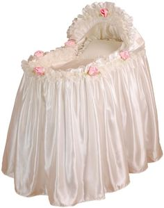 Baby Doll Bedding Rosey Bassinet Set, Pink: Baby