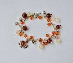Your place to buy and sell all things handmade Amber Bracelet, Beaded Bracelets, Bracelet Sizes, Elephant, Sparkle, Charmed, Etsy, Jewelry, Jewlery