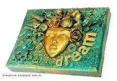 Mixed Media Mini Canvas Using Luminarte Silks Acrylic Glaze
