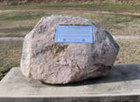 """A little over hour outside Cape Girardeau, MO. Frenchman's Spring Historical Marker serves as a symbol of the 2,000 soldiers who organized the 1st division of the Missouri State Guard. Known as the """"Swamp Fox Brigade."""" VisitMO.com"""