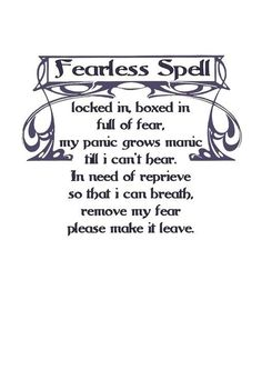Charmed Series Book of Shadows: Fearless Spell » Metaphysic Study