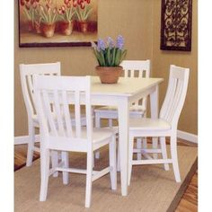 Carolina Cottage Antique Ivory Prairie Dining Table-3048PT-AP - The Home Depot
