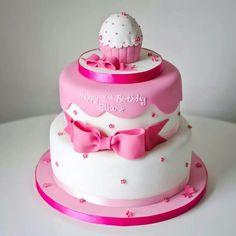 Simple elegant two-tiers by Yum Yum Cake Company