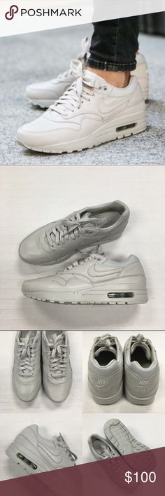 Women's Nike NikeLab Air Max 1 Premium Sneakers Women's Nike NikeLab Air Max 1 Premium Pinnacle Sneakers Style/Color: 839608-001  • Women's size 8.5  • NEW in box (no lid) • No trades •100% authentic Nike Shoes Sneakers