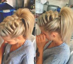 Braided Ponytail Ideas: 40 Cute Ponytails with Braids – The Right Hairstyles f. Braided Ponytail I Pretty Hairstyles, Up Hairstyles, Wedding Hairstyles, Hairstyle Ideas, School Hairstyles, Amazing Hairstyles, Medium Hairstyles, Nurse Hairstyles, Fashion Hairstyles