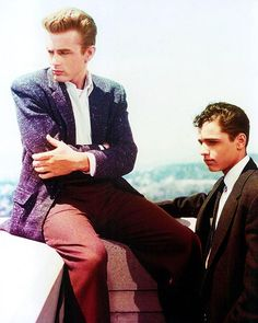 """James Dean and Sal Mineo in """"Rebel Without A Cause,"""" 1955"""