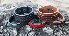 Bracelete em Couro Natural. Compre ON-LINE em até 3x SEM JUROS | Boleto com 10% OFF. Promoção de Lançamento!