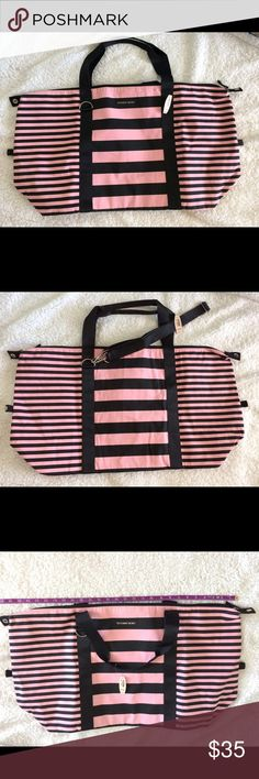 """Victoria's Secret Bag Victoria's Secret large tote bag, never used, 26"""" opening, 15"""" tall NWT PINK Victoria's Secret Bags Totes"""