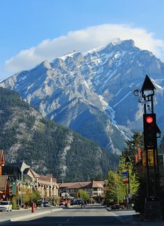 Downtown Banff. Great place to visit with plenty of hiking, dining, and siteseeing to do.