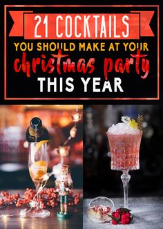 21 Easy Cocktails To Make At Your Christmas Party This Year #timbeta #sdv #betaajudabeta