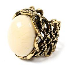 amrita singh bridgehampton ring - white jade