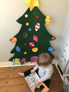 A toddler friendly Christmas tree. A wonderful way to keep your toddler busy and distract them away from your Christmas tree. Click our blog for more info and to buy!