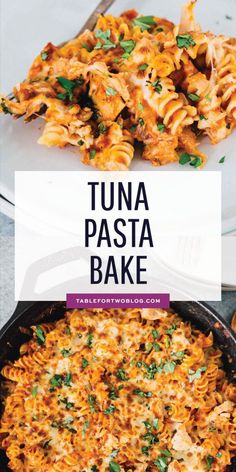 Tuna Pasta Bake - Pantry Ingredients Skillet Tuna Pasta Bake Tuna Pasta Bake - Pantry Ingredients Skillet Tuna Pasta Bake Incredibly easy tuna pasta bake that utilizes everything you already have in your pantry! Canned tuna is the star of this pasta bake! Easy Tuna Recipes, Canned Tuna Recipes, Tuna Casserole Recipes, Baked Pasta Recipes, Seafood Recipes, Vegetarian Recipes, Dinner Recipes, Easy Meals, Cooking Recipes