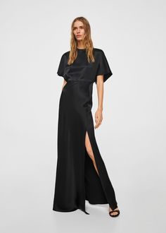 Womens back detail satin dress