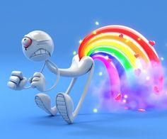 Excuse me while I fart Rainbows