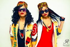Salt-n-pepa 80s Fashion Clothes Afro Hip Hop Style