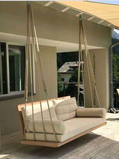 Outdoor porch swing, DIY swing bed, Elegant and comfortable bed Best Picture For home design kitchen
