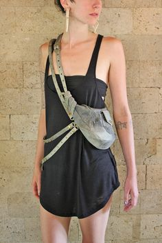 Spider Satchel Leather Holster Bag that is Versatile with Brass Accessories